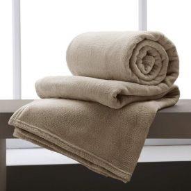 Cobertor Casal Home Design Microfibra - Bege