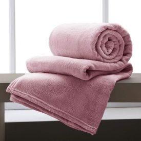 Cobertor Casal Home Design Microfibra - Rosa Velho