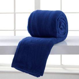 Cobertor Casal Home Design Microfibra - Marinho