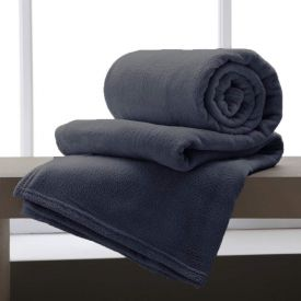 Cobertor Casal Home Design Microfibra - Chumbo