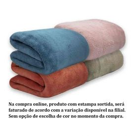 Cobertor Casal Liso Microfibra Camesa - Sortido