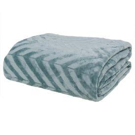 Cobertor Casal Patricia Foster - Chevron Verde Suculenta