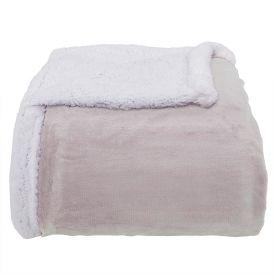 Cobertor Casal Sherpa Dupla Face - Cru