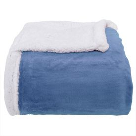 Cobertor Casal Sherpa Dupla Face - Jeans