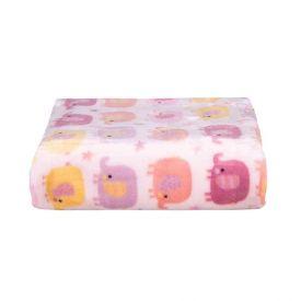 Cobertor De Bebê Flannel Camesa - Elecircus Rosa