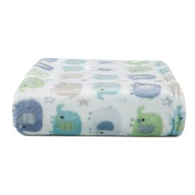Cobertor De Bebê Flannel Camesa - Elecircus Azul