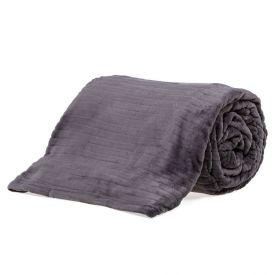 Cobertor De Casal 1,80X2,20M Canelado - Cinza Chumbo