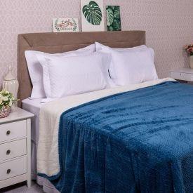 Cobertor King Dupla Face London - Azul Indigo