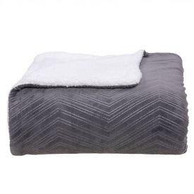 Cobertor King Dupla Face London - Cimento