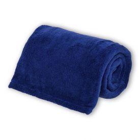 Cobertor Microfibra Casal Liso Andreza - Marinho