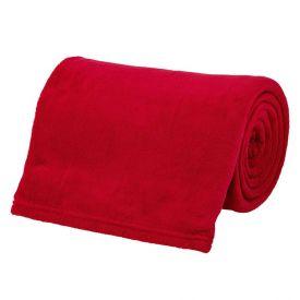Cobertor Microfibra Queen Liso Andreza - Vermelho