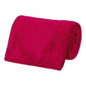 Cobertor Microfibra Solteiro Liso Andreza - Pink