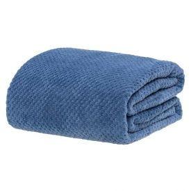 Cobertor Queen 2,20M X 2,40M Dobby - Jeans
