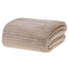 Cobertor Queen 2,20X2,40M Canelado - Bege