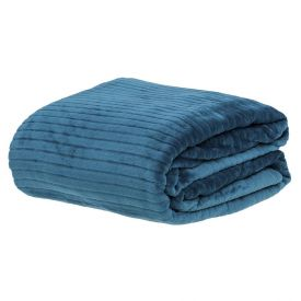 Cobertor Queen 2,20X2,40M Canelado - Azul Recife