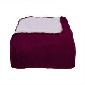 Cobertor Queen Aspen Dupla Face Sherpa - Vinho