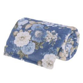 Cobertor Queen Microfibra Estampado Yaris - Rafaela Azul