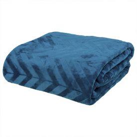 Cobertor Queen Patricia Foster - Chevron Azul Recife