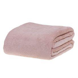 Cobertor Queen Patricia Foster - Arabesco Rosa Velho