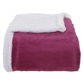 Cobertor Queen Sherpa Dupla Face - Blush