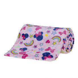 Cobertor Solteiro Disney - Minnie Fun Rosa