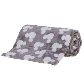 Cobertor Solteiro Disney - Mickey Classic Cinza