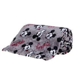 Cobertor Solteiro Disney - Mickey Faces Cinza