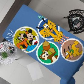 Cobertor Solteiro Flanela Estampado Disney - Mickey Friends