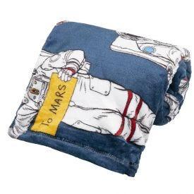 Cobertor Solteiro Kids Flannel Basic  - Marte Astronauta