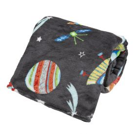 Cobertor Solteiro Kids Flannel Basic  - Discovery Space