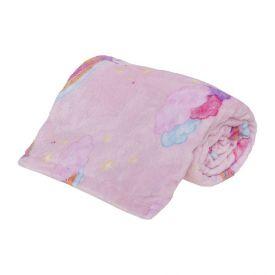 Cobertor Solteiro Kids Flannel Basic Andreza - Unicorn Kingdom