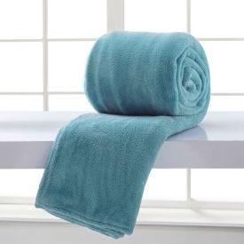 Cobertor Solteiro Microfibra Home Design - Denim