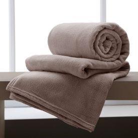 Cobertor Solteiro Microfibra Home Design - Taupe
