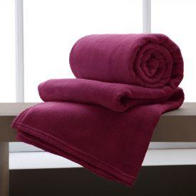 Cobertor Solteiro Microfibra Home Design - Malbec