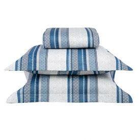 Cobre-Leito Casal 3 Peças 150 Fios Havan - Matte Azul
