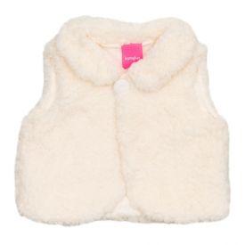 Colete de Bebê Pelucido Sherpa Kamylus Off White