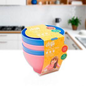Conjunto de 4 Tigelas 300ml Play Kids Dup - Colors
