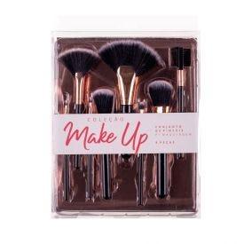 Conjunto De 8 Pinceis De Maquiagem Contatho - Preto