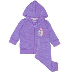 Conjunto de Bebê anos Jaqueta + Calça Fakini Lilas