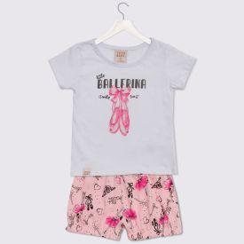 Conjunto de Bebê Blusa e Shorts Balé Yoyo Baby Branco