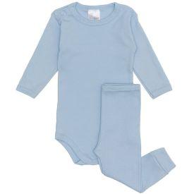 Conjunto de Bebê Body com Calça Yoyo Baby Azul