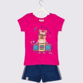 Conjunto de Bebê Dog Yoyo Baby Pink Panter