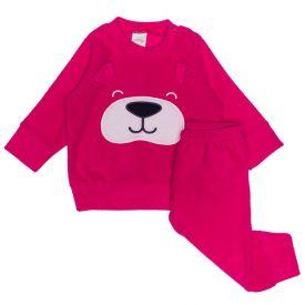Conjunto de Bebê Plush Blusão e Calça Alakazoo Rosa Spice