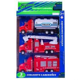 Conjunto De Caminhões 3 Peças Super Turbo Havan - HME0201