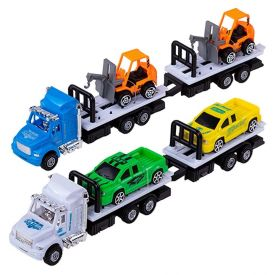Conjunto De Carretas Com Carros - HBR0018