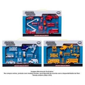 Conjunto De Carrinhos Super Turbo Resgate - HBMB001