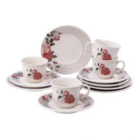 Conjunto De Chá E Sobremesa 12 Peças Bella Biona - Cerâmica