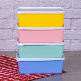 Conjunto de Pote Essencial 1,2L leve 4 Pague 3 Cinco Plastic - Colors