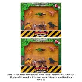Conjunto Dinossauros Com Quebra-Cabeça Dino World Hbma010 - HBMA010