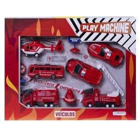 Conjunto Veículos De Bombeiro Play Machine Multikids - BR1070